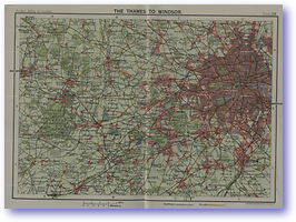 The Thames to Windsor - 1922 (Pocket Atlas and Guide to London - Published: 1922) 600 DPI
