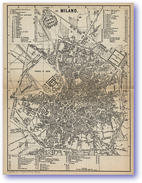 Plan of Milan - 1881 (Switzerland - Published: 1881) 600 DPI