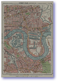 West India Docks and Greenwich - 1922 (Pocket Atlas and Guide to London - Published: 1922)