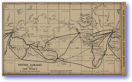 Steamship Routes - 1902 (British Almanac - Published: 1902) 600 DPI