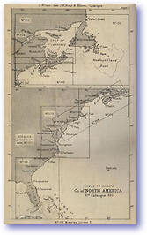 Coast of North America - 1877 (Nories Navigation - Published: 1877)